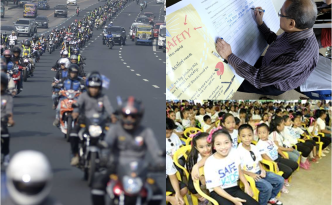 The motorcade and the signing of the children's safety declaration respectively opened and culminated the successful celebration of the 3rd UN Global Road Safety Week