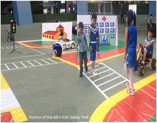 Kids demonstrated what they learned through observance of road signs and obedience to traffic rules
