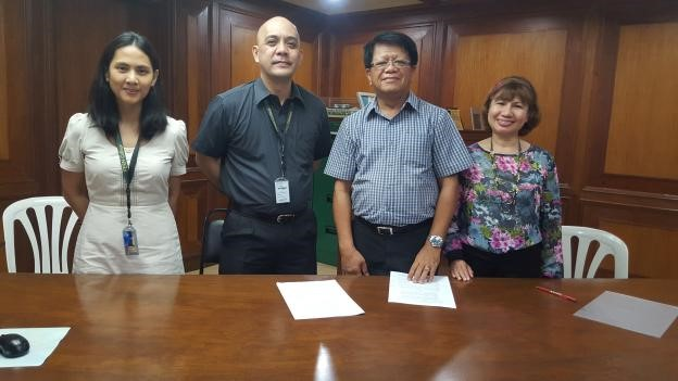 MDPPA and FEU-FERN signed a Memorandum of Understanding on September 14, 2015 for the Road Safety Seminar for Children. MDPPA President Rodel I. Pablo (third from left) and FEU FERN Executive Director Albert R. Cabasada III (second from left) represented the Parties together with witnesses Espie N. Custodio, MDPPA Marketing Committee Chairperson (rightmost) and Antonette U. Villanueva, FEU FERN's Basic Education Department Directress (leftmost).